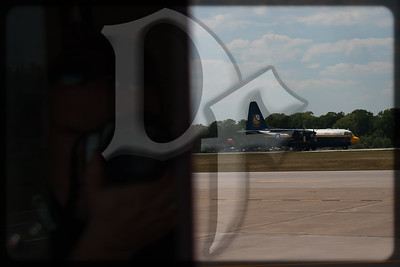 A self portrait as 'Fat Albert' begins his takeoff roll during the 2011 ESL International Airshow in Rochester, NY.