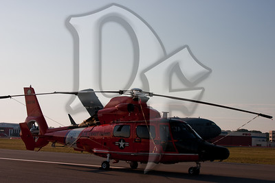 A Coast Guard HH-65 Dauphen from Atlantic City, NJ on display at the 2011 ESL International Airshow in Rochester, NY