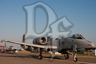 A U.S. Air Force A-10 Thunderbolt on display at the 2011 ESL International Airshow in Rochester, NY.