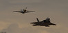 """Langley AFB F-22 Demonstration Team F-22A Raptor and the North American P-51D Mustang """"Double Trouble Two"""""""