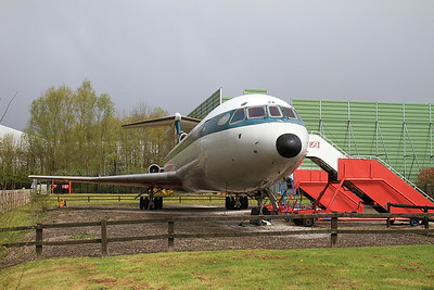 Hawker Siddeley Trident 3, G-AWZK, on display at the Runway Visitor Park - 30/04/16.