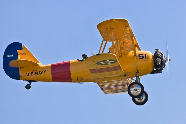 A Naval Aircraft Factory N3N trainer aircraft.