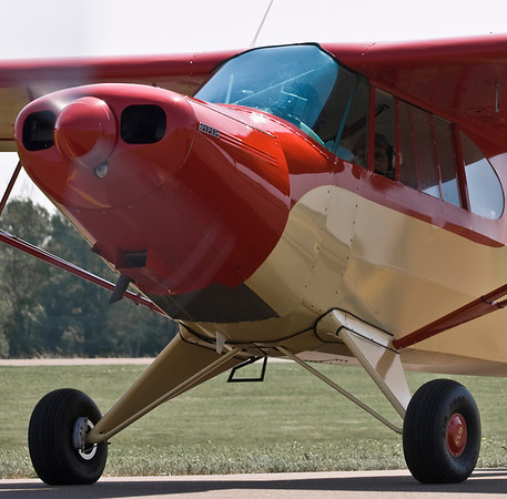 The Piper PA-12 taxiing out.