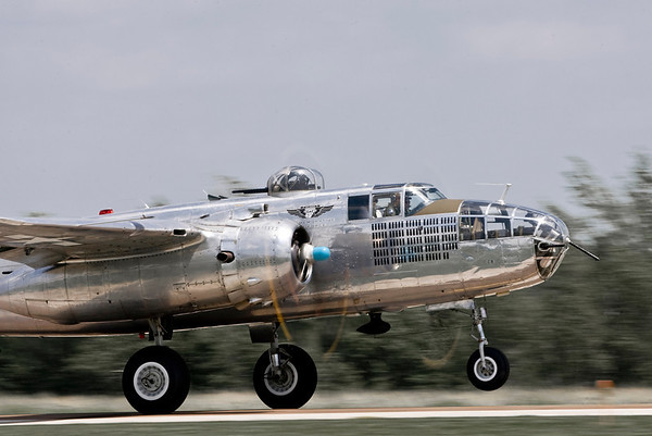 "The B-25 Mitchell ""Miss Mitchell"" operated by the Minnesota Wing of the Commemorative Air Force (CAF) on take off roll."