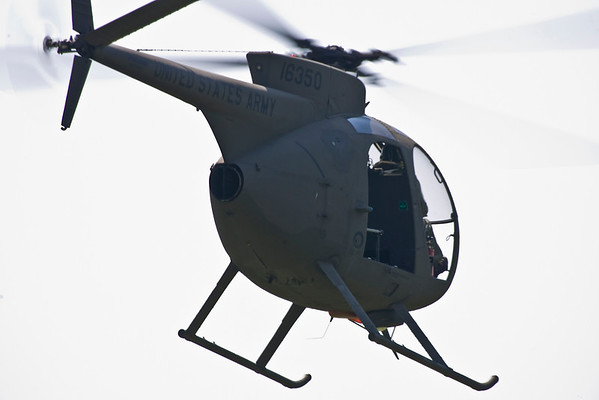 The OH-6 climbing away from the field.