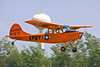 A 1951 vintage Cessna O-1 Bird Dog in its original markings--very colorful!