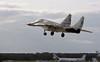 Mikoyan-Gurevich MiG-29S fighter 407 blue, Farnborough, 12 September 1992 2