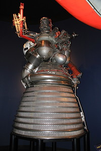 J2 rocket engine (1966) - 6 of these powered the Saturn V moon rockets first stage, then another 5  powered the 2nd stage and finally 1 powered the 3rd stage, ultimately pushing the craft towards the moon at 24,000 mph !! - 09/01/16.