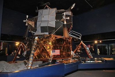 Replica of Apollo 11 Lunar module 'Eagle', the craft that Armstrong / Aldrin first landed on the moon on 20th July 1969 - 09/01/16.