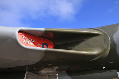 Avro Vulcan B2, XH558 / G-VLCN - close up of air intake - 06/09/15.