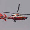 Coast Guard HH-65A working the pattern at Los Alamitos AAF - 5 Sept 2012
