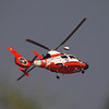 Coast Guard HH-65A working the pattern at Los Alamitos AAF - 10 Sept 2012
