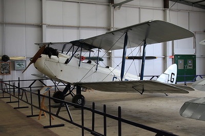 De Havilland DH-60X Moth, G-EBWD, on display inside one of the hangers at Old Warden - 05/07/15.