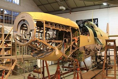 Supermarine Spitfire Mk Vc, AR501 / G-AWII, under restoration - 05/07/15.