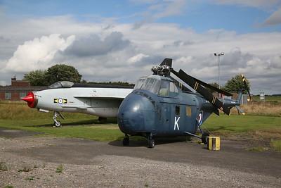 ex-Saudi AF English Electric Lighting F.53, 53-681 / ZF583 & ex-USN & RN Sikorsky S.55 (later Westland Whirlwind), WV198/K / G-BJWY - 04/08/18