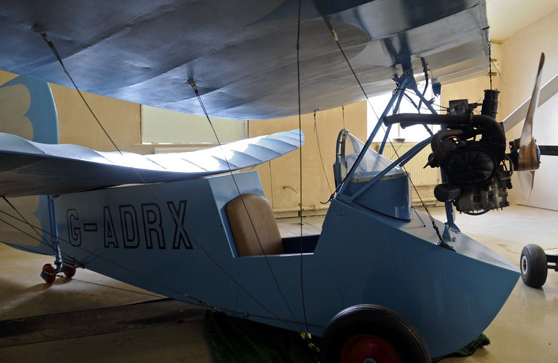 Mignet HM14 Flying Flea G-ADRX, Solway Aviation Museum, Carlisle airport, Sat 15 September 2012