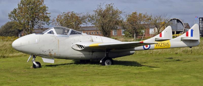 De Havilland Vampire T11 WZ515, Solway Aviation Museum, Carlisle airport, Sat 15 September 2012