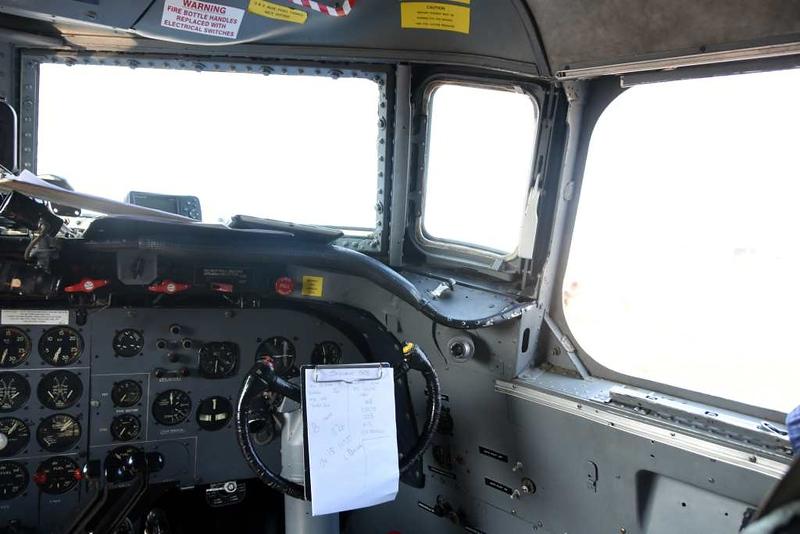 Flightdeck, DC-4 ZS-BMH Lebombo, Waterkloof Air Force Base, Pretoria, 22 September 2018 5.