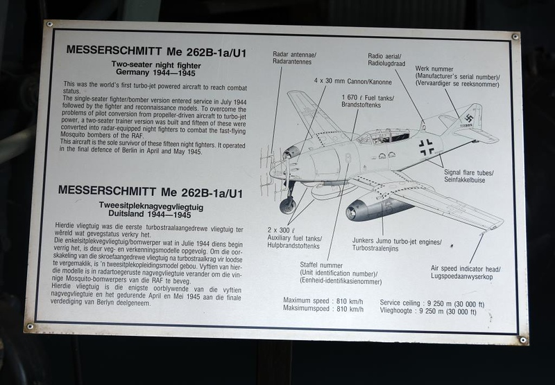 Messerschmitt Me-262B-1A Red 8 / 110305, South African National Museum of Military History, Johannesburg, 20 September 2018 5.
