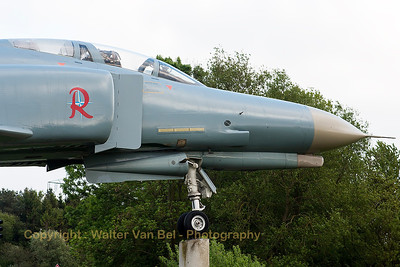 Freshly painted GAF F-4F Phantom II (38+14; cn4646), in the town of Wittmund.