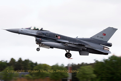 Turkish Air Force F-16CJ Fighting Falcon (07-1006; cnNV-6), on take-off during another JAWTEX-mission.