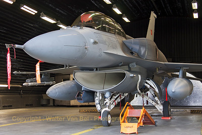 Turkish Air Force F-16DJ Fighting Falcon (07-1022; cnNW-8), in a shelter at Wittmund, during deployment for exercise JAWTEX.