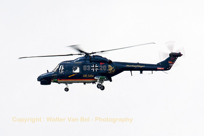 "Super Lynx Mk88A from MFG5 (83+20; cn388), with special c/s for ""100 Jahre Marineflieger""."