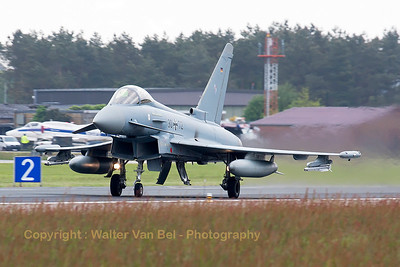 German Air Force EF2000 (30+72; cnGS053) from TLG31, launching for another QRA-mission from Wittmund.