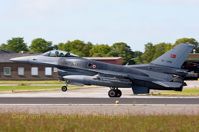 Turkish Air Force F-16CJ Fighting Falcon (07-1006; cnNV-6), seen here landing on Wittmund's RWY26, after another JAWTEX-mission.