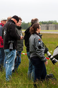 Photographers at rest - waiting for the Aviation-action - during the rather cold start of the Microspottersday at Wittmund...