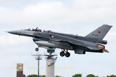Turkish Air Force F-16DJ Fighting Falcon (07-1023; cnNW-9), on take-off during another JAWTEX-mission.