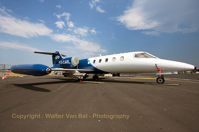 "Gates Learjet 35A (D-CARL; cn35A-387) from GFD, parked in the static during the spottersday, prior to the ""Tag der Bundeswehr""."