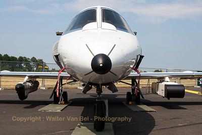 "Face to face with the Gates Learjet 35A (D-CARL; cn35A-387) from GFD, parked in the static during the spottersday, prior to the ""Tag der Bundeswehr""."