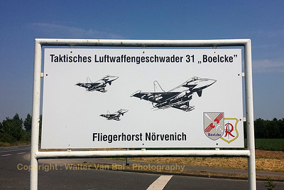 "Seen at the entrance of Fliegerhorst ""Nörvenich""."