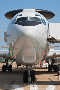 "Close-up of  a NATO E-3A Sentry (LX-N90453; cn 22848/964) on static display at Nörvenich Air Base, during the spottersday, prior to the ""Tag der Bundeswehr""."