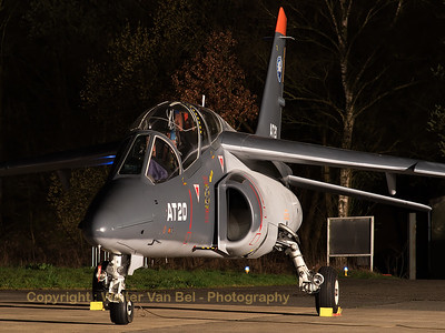 Belgian Air Force Alpha-Jet 1B, present in the static for the sunset-shoot organized by 1Wing at Beauvechain Air Base.