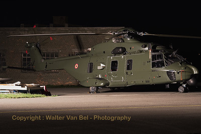 Belgian Air Force NHI NH-90 TTH (RN-07; cn 1297) from 1 Wing, 18 Squadron, present in the static for the sunset-shoot organized by 1Wing at Beauvechain Air Base.