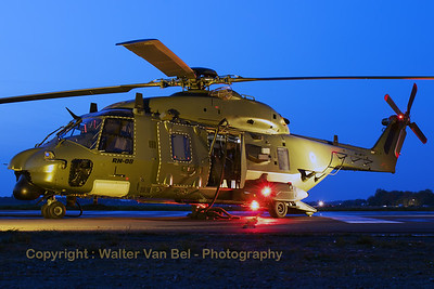 Belgian Air Force NHI NH-90 TTH (RN-08; cn1305/TBEA04) from 1 Wing, 18 Squadron, present in the static for the sunset-shoot organized by 1Wing at Beauvechain Air Base (Belgian Helidays 2017).