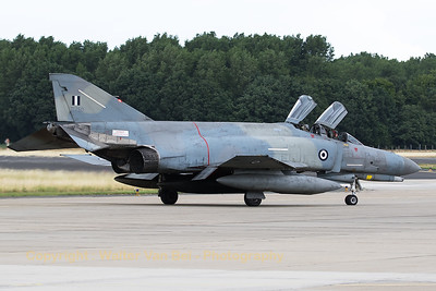 "Hellenic Air Force F-4E AUP Phantom II (71750; cn 5016) from 339MPK, poses nicely in front of the photographers at Geilenkirchen Air Base, during the spottersday for the celebration of ""35 Years NATO E-3A Component""."