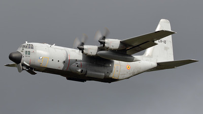 Belgian Air Force C-130H (CH-10; msn382-4481) on take-off from RWY23R at Kleine Brogel, during the spottersday prior to the Sanicole Airshow 2017.