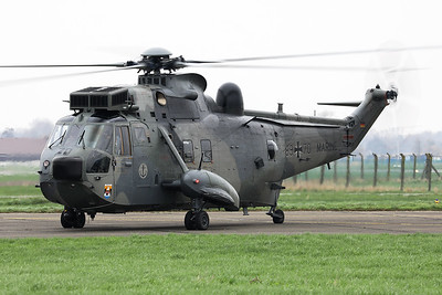 A German Navy Sea King Mk41 (89+70; wsnWA774), is seen here prior to take-off from Koksijde Air Base, for a formation flight, during the farewell ceremony of the Belgian Sea King.