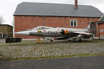 Belgian Air Force F-104G Starfighter (FX47; cn683-9090), preserved at Beauvechain AFB (1Wing Historical Center).