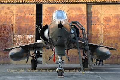 Belgian Air Force Mirage 5BD (BD09; msn209), preserved in splendid condition at Brustem (St-Truiden).