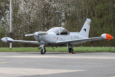 This Belgian Air Force SF-260D Marchetti (ST-43, msn843) is seen parked on the Beauvechain flightline.