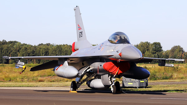 This Royal Norwegian Air Force F-16AM (675; 6K-47) of 331 skv, is seen here parked on the taxiway at Kleine Brogel during the spottersday, prior to the Sanicole-Airshow.