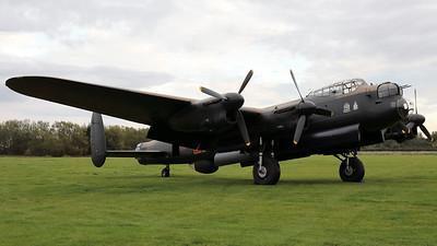 "AVRO 683 Lancaster B7 ""Just Jane"" (G-ASXX; NX611/DX-F/LE-H), seen here prior to a night photoshoot at the Lincolnshire Aviation Heritage Centre, East Kirkby. [TimeLine Events & COAP]"