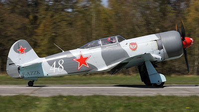 A Yak-3UWP (F-AZZK; msn06042013), is seen here completing its landing roll, on Ursel's RWY07, during the Ursel Avia Spottersday.