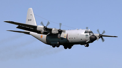 """Today, this Belgian Air Force C-130 """"Hercules"""" (CH-13; msn382-4047) was flown from Melsbroek """"EBBR"""" to Beauvechain (EBBE), where she will be stored in the local museum. She is seen here during her final - full-stop - landing."""