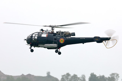 Aerospatiale SA-316B Alouette III (M-2; cn1816) from the Belgian Navy, seen here arriving at Florennes Air Base, during the Anniversary Spottersday to celebrate 75 Years of the Belgian Air Force.