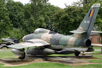 This Belgian Air Force RF-84F is preserved at the Beauvechain Historical Centre.